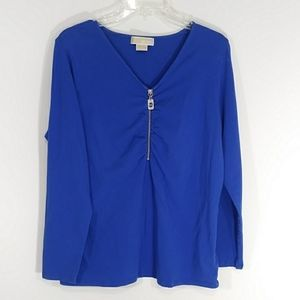 Michael Kors blue long sleeve top size 1X